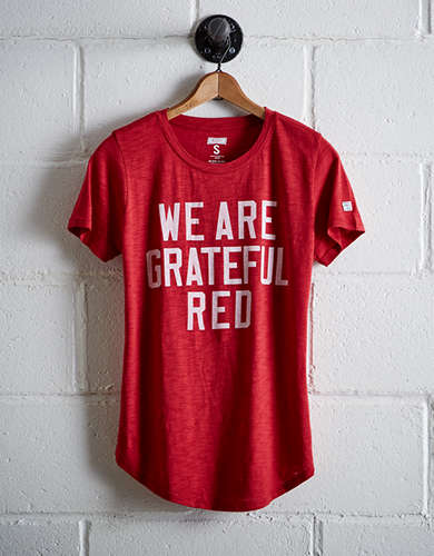 Tailgate Women's Wisconsin Grateful Red T-Shirt - Free Returns
