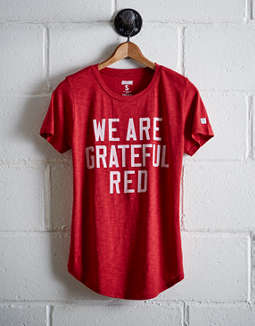 Tailgate Women's Wisconsin Grateful Red T-Shirt