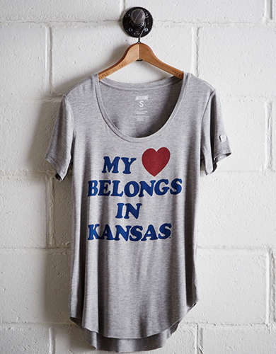Tailgate Women's Kansas Scoop Neck Tee - Free Returns