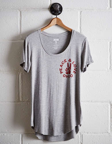 Tailgate Women's Ohio State Scoop Neck Tee - Free Returns
