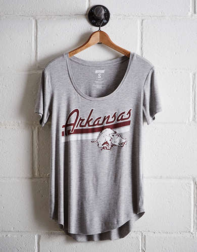 Tailgate Women's Arkansas Scoop Neck Tee - Free Returns