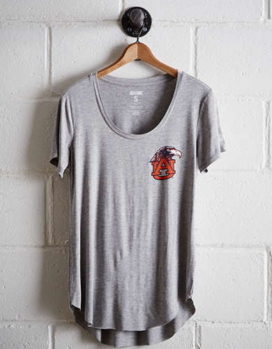 Tailgate Women's Auburn Scoop Neck Tee - Free Returns