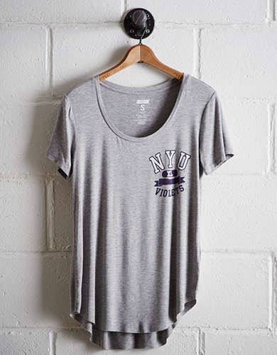 Tailgate Women's NYU Scoop Neck Tee - Free Returns