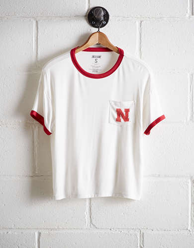 Tailgate Women's Nebraska Cornhuskers Pocket T-Shirt - Free Returns