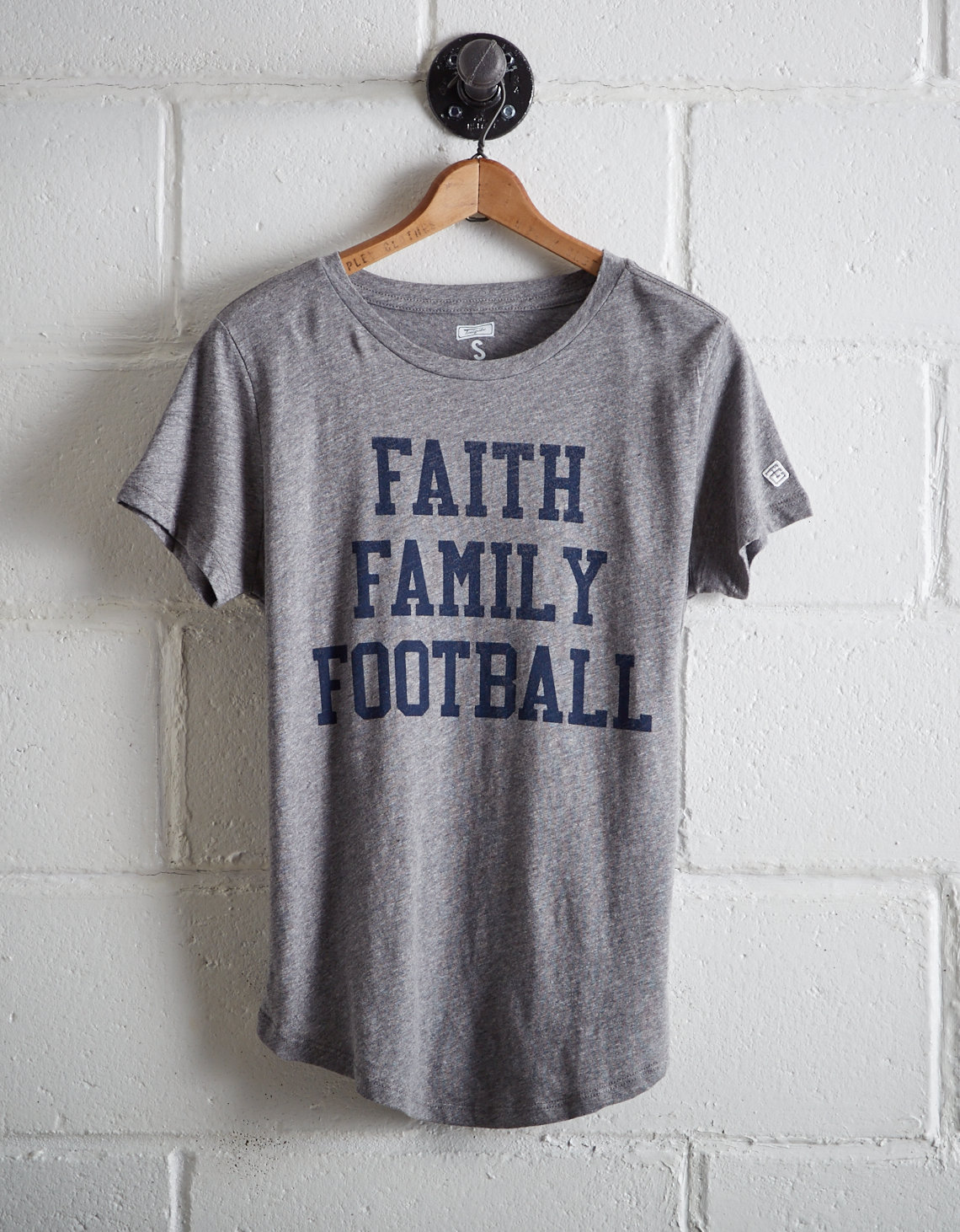 Tailgate Women's Faith Family Football T-Shirt. Placeholder image. Product  Image. Online Only