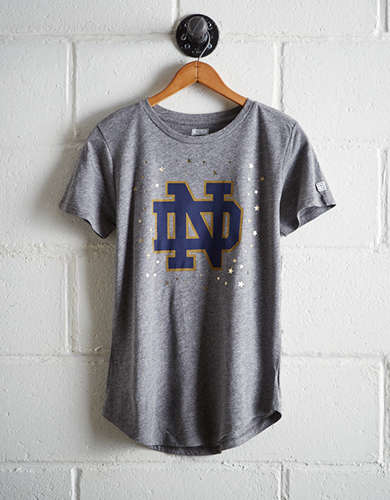 Tailgate Women's Notre Dame Reflective Stars T-Shirt - Buy One Get One 50% Off