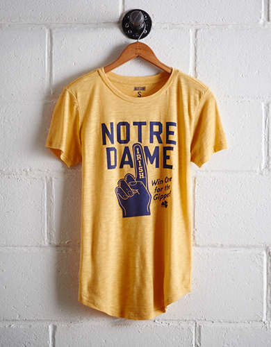 Tailgate Women's Notre Dame Foam Finger T-Shirt - Buy One Get One 50% Off