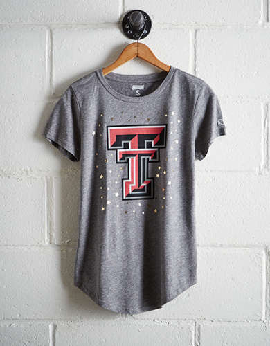 Tailgate Women's Texas Tech Foil Star T-Shirt - Free Returns