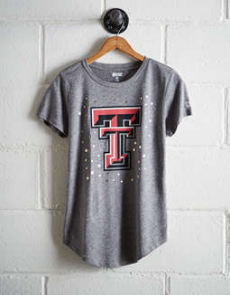 Tailgate Women's Texas Tech Foil Star T-Shirt