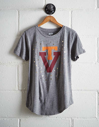 Tailgate Women's Virginia Tech Foil Star T-Shirt - Free returns