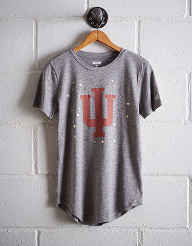 Tailgate Women's Indiana Foil Star T-Shirt - Free Returns