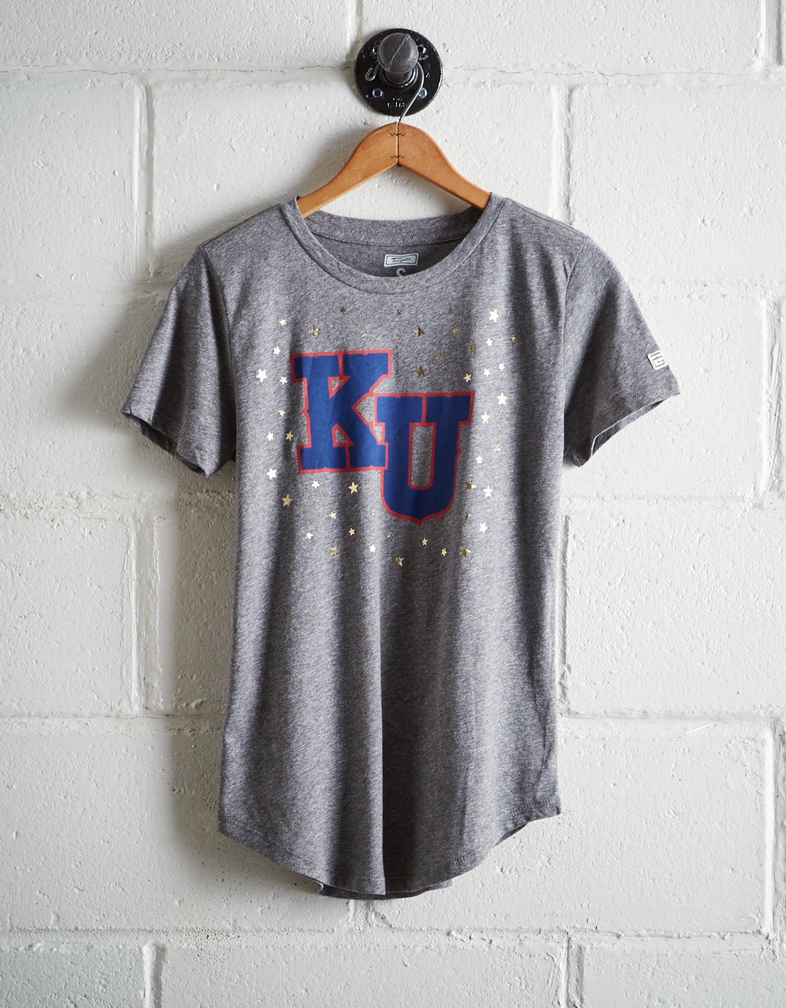 Tailgate Women's Kansas Foil Star T-Shirt