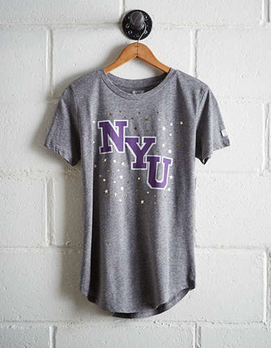 Tailgate Women's NYU Foil Star T-Shirt - Free returns
