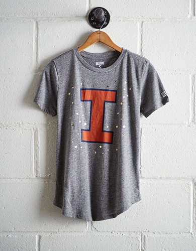 Tailgate Women's Illinois Foil Star T-Shirt - Free returns