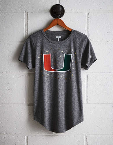 Tailgate Women's Miami Foil Star T-Shirt -