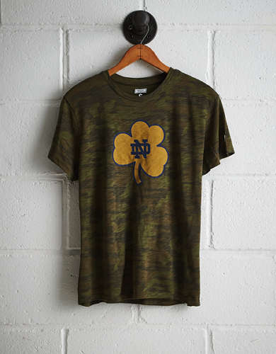 Tailgate Women's Notre Dame Camo Boyfriend Tee - Free shipping & returns with purchase of NBA item