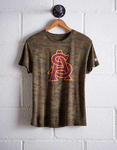 Tailgate Women's Arizona State Camo Boyfriend Tee - Free Returns