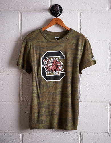 Tailgate Women's South Carolina Camo Boyfriend Tee - Free Returns