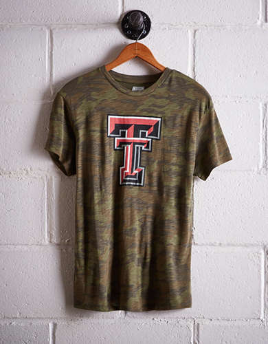 Tailgate Women's Texas Tech Camo Boyfriend Tee - Free Returns