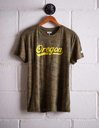 Tailgate Women's Oregon Camo Boyfriend Tee - Free Returns