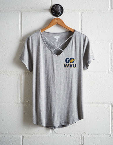 Tailgate Women's WVU Cage Front Tee - Buy One Get One 50% Off