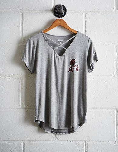 Tailgate Women's Arkansas Cage Front Tee - Free returns