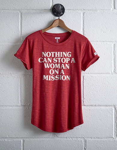 Tailgate Women's Woman On A Mission T-Shirt - Free Returns