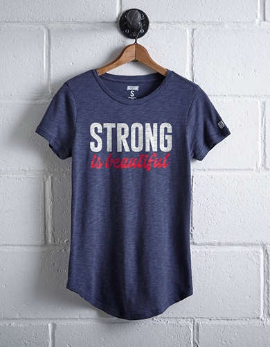 Tailgate Women's Strong Is Beautiful T-Shirt - Free Returns