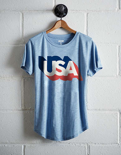 Tailgate Women's USA Shadow T-Shirt - Free Shipping + Free Returns