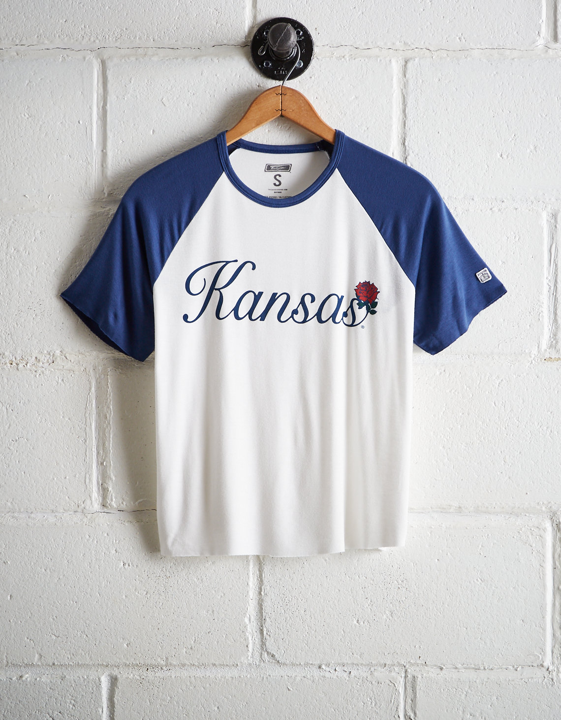 Tailgate Women's Kansas Cut-Off Baseball Tee