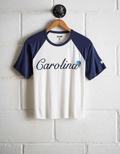 Tailgate Women's UNC Tar Heels Cut-Off Baseball Tee - Free Returns