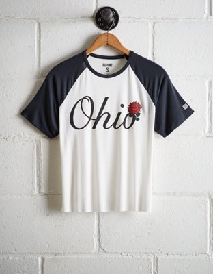 Tailgate Women's Ohio State Cut Off Baseball Tee by American Eagle Outfitters
