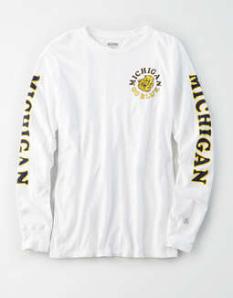 Tailgate Women's Michigan Wolverines Long Sleeve T-Shirt
