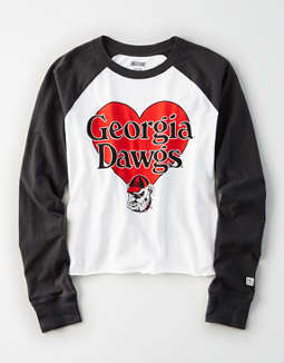 Tailgate Women's Georgia Bulldogs Baseball Shirt