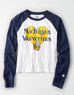 Tailgate Women's Michigan Wolverines Baseball Shirt