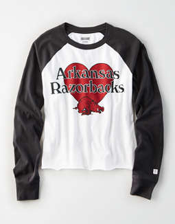 Tailgate Women's Arkansas Razorbacks Baseball Shirt