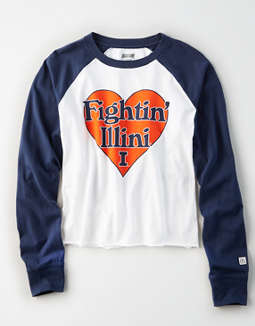 Tailgate Women's Illinois Fighting Illini Baseball Shirt