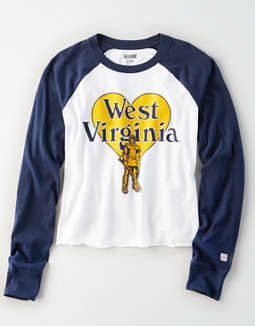Tailgate Women's WVU Mountaineers Baseball Shirt
