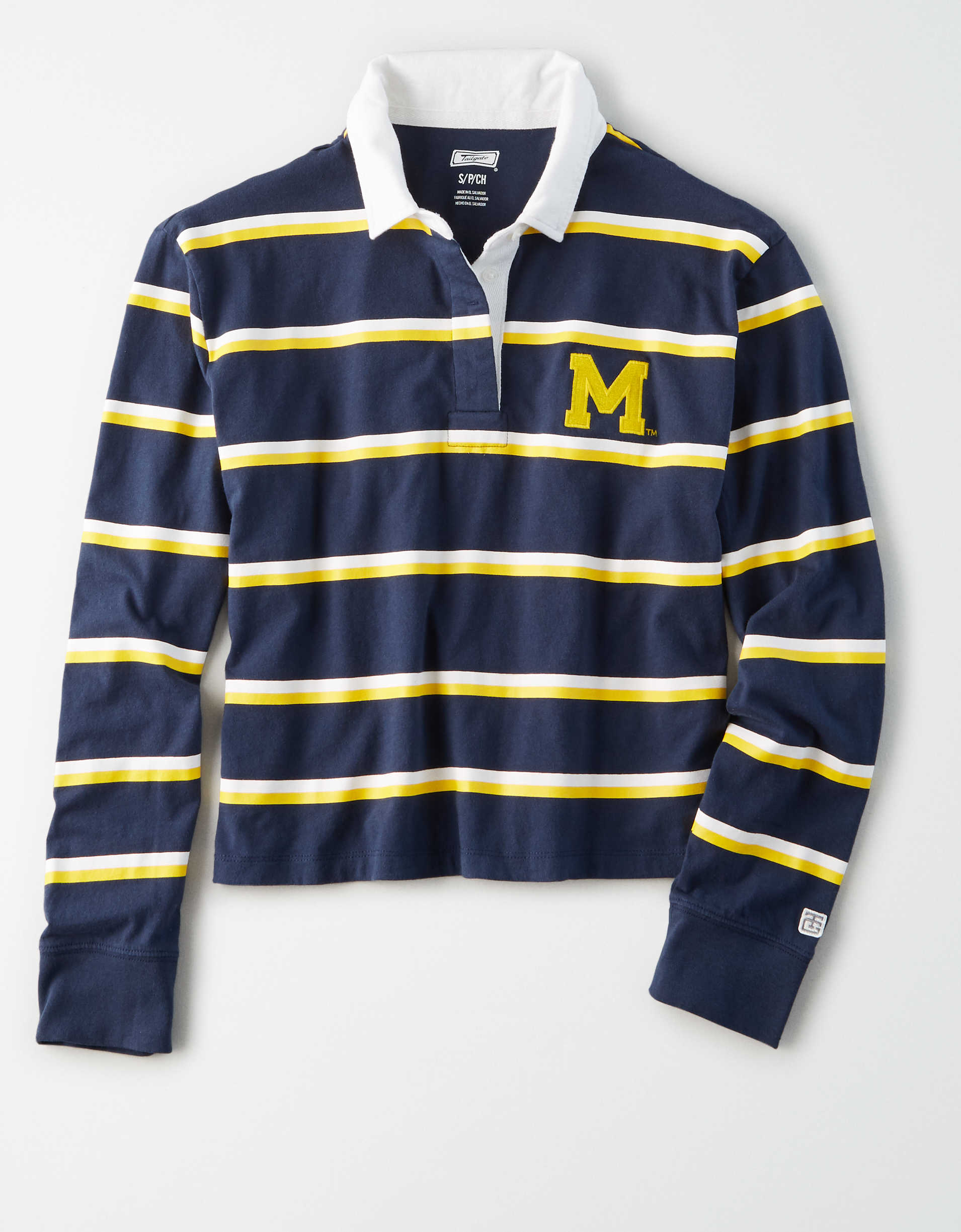 Tailgate Women's Michigan Wolverines Rugby Shirt