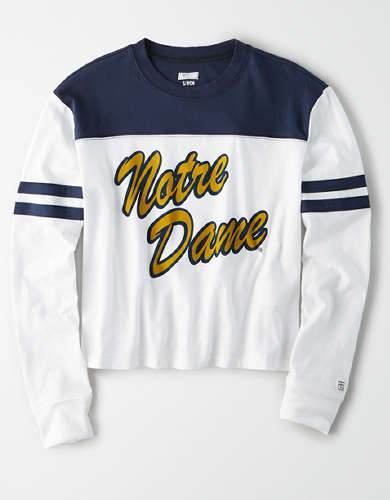 Tailgate Women's Notre Dame Cropped T-Shirt