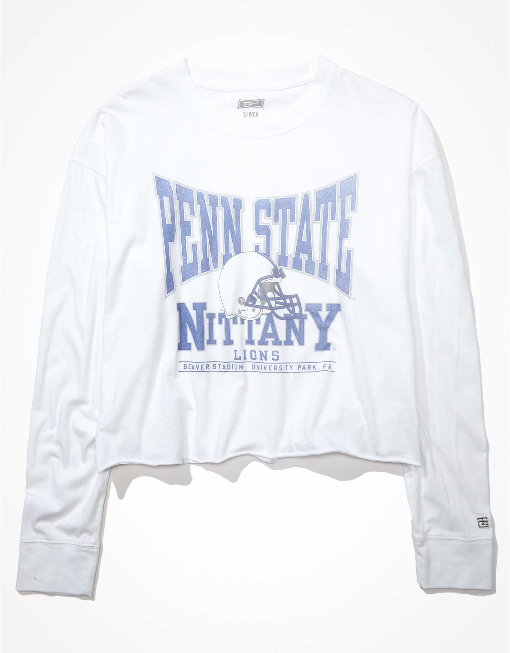 Tailgate Women's Penn State Raw Hem Long-Sleeve T-Shirt