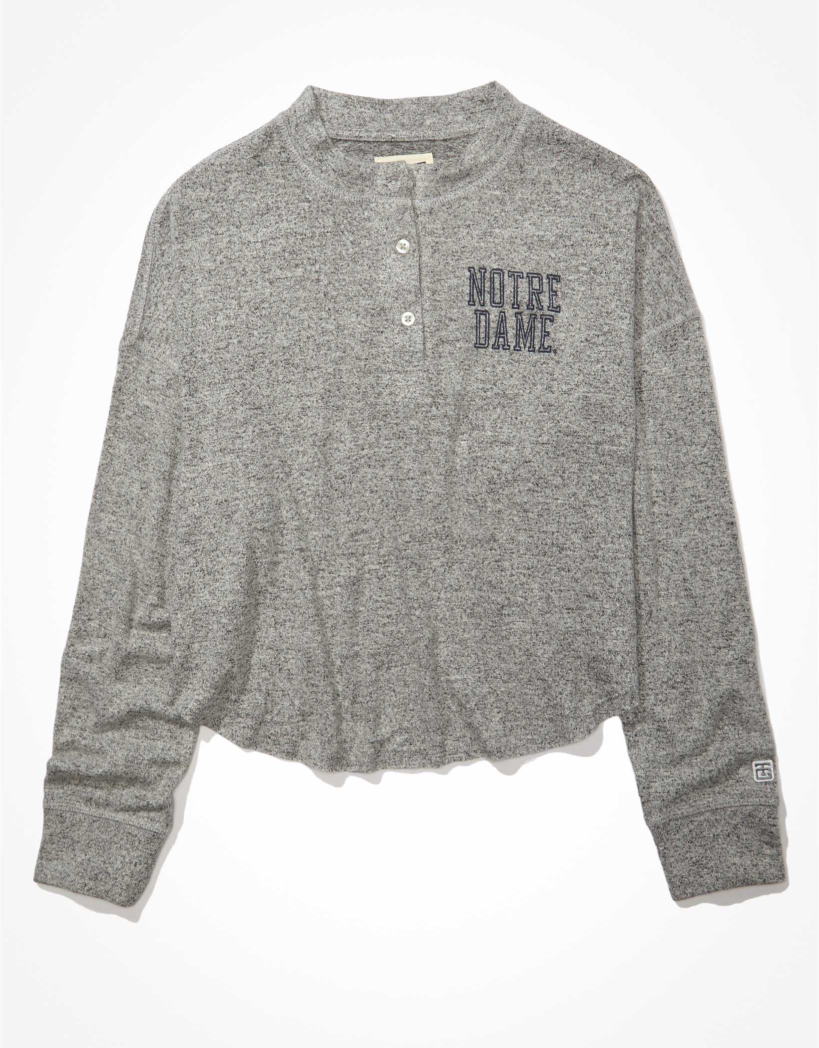 Tailgate Women's Notre Dame Long-Sleeve Plush Henley