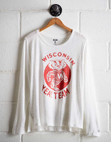 Tailgate Women's Wisconsin Long Sleeve T-Shirt - Free Returns