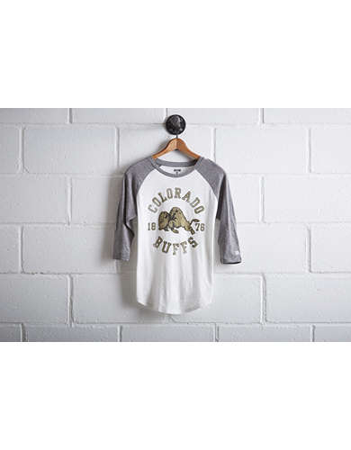Tailgate Women's Colorado Buffaloes Baseball Shirt - Free Returns