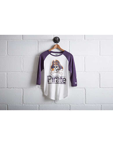Tailgate Women's ECU Pirates Baseball Shirt - Free Returns