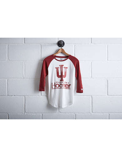 Tailgate Women's Indiana Hoosiers Baseball Shirt - Free Returns