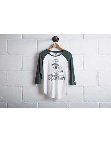 Tailgate Women's Michigan State Baseball Shirt - Free Returns