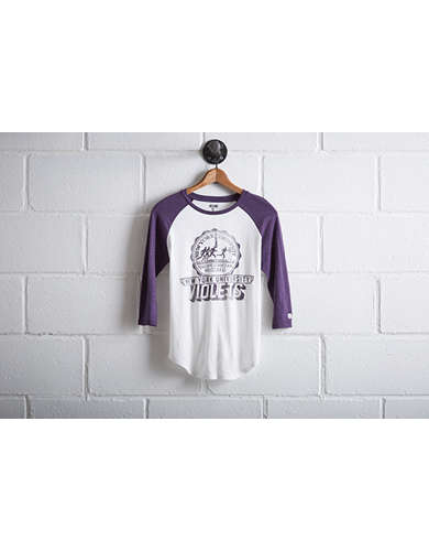 Tailgate Women's NYU Violets Baseball Shirt - Free Returns