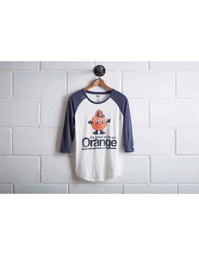 Tailgate Women's Syracuse Orange Baseball Shirt -