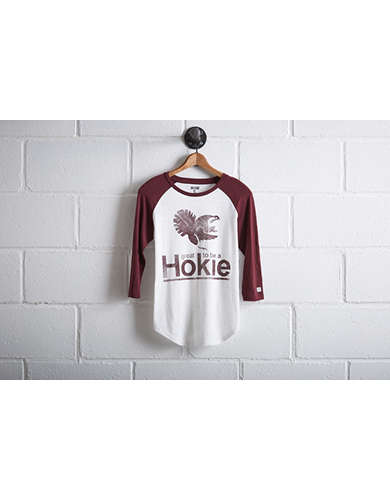 Tailgate Women's Virginia Tech Baseball Shirt - Free Returns